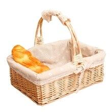 Новинка-ручная работа натуральные ивовые корзины для покупок винтажные плетеные корзины для покупок коллекция подарочных корзин