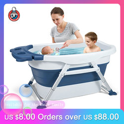 Baby Bathtub Portable Bathtub for Adults Child Swimming Pool Foldable Baby Tub Bath Children's Tub for Newborn Baby Products