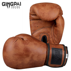 Retro Color Adult Kids Women/Men Boxing Gloves Pu Leather MMA Muay Thai Boxe De Luva Mitts Sanda GYM Equipment 6 8 10 12OZ boks(China)