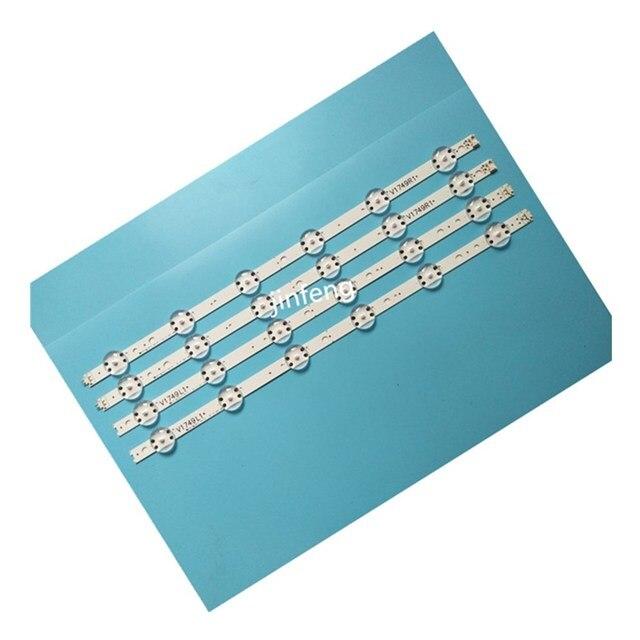 ใหม่ 10 ชุด = 40 PCS LED Strip สำหรับ LG 49UV340C 49UJ6565 49UJ670V V17 49 R1 L1 ART3 2862 2863 6916L 2862A 6916L 2863A