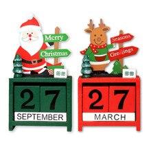 Прекрасный милый Рождественский деревянный календарь домашний рабочий стол орнамент рождественские украшения детские рождественские подарки