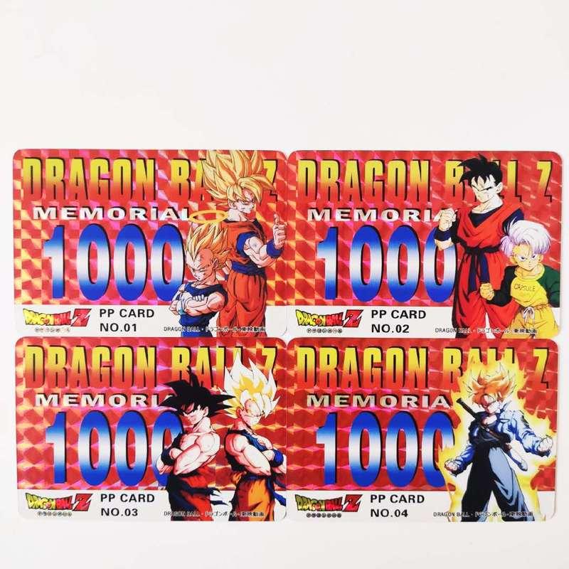 9pcs/set Dragon Ball Z PP Card Super Saiyan Goku Vegeta Game Figures Commemorative Edition Collection Cards Limit