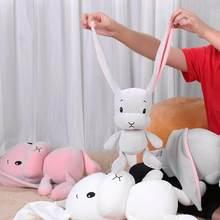 Peluches de conejo bonitos de 30cm para niños, conejito de peluche supersuave, muñeco de bebé, juguete para dormir