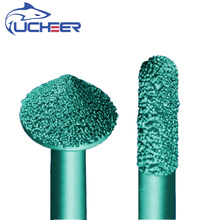 цена на UCHEER 1pcs ball head 3D Brazing stone engraving bits marble carving tools CNC router bits stone milling cutter for granite