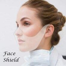 Masque Transparent Face-Cover Mouth-Masks Plastic Reusable Wear 3D Wor Men Women High-Quality