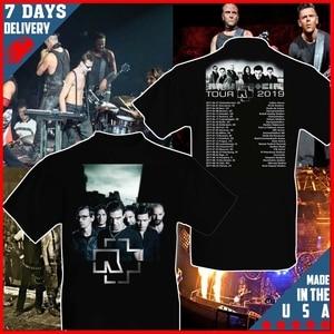 Ramstein World Tour 2019 Size S - 2XL Black T-shirt(China)