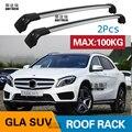 SHITURUI 2 шт штанги на крышу для Mercedes-Benz GLA SUV 2013-2019X156 алюминиевый сплав боковые штанги поперечные рельсы багажник на крышу багажа