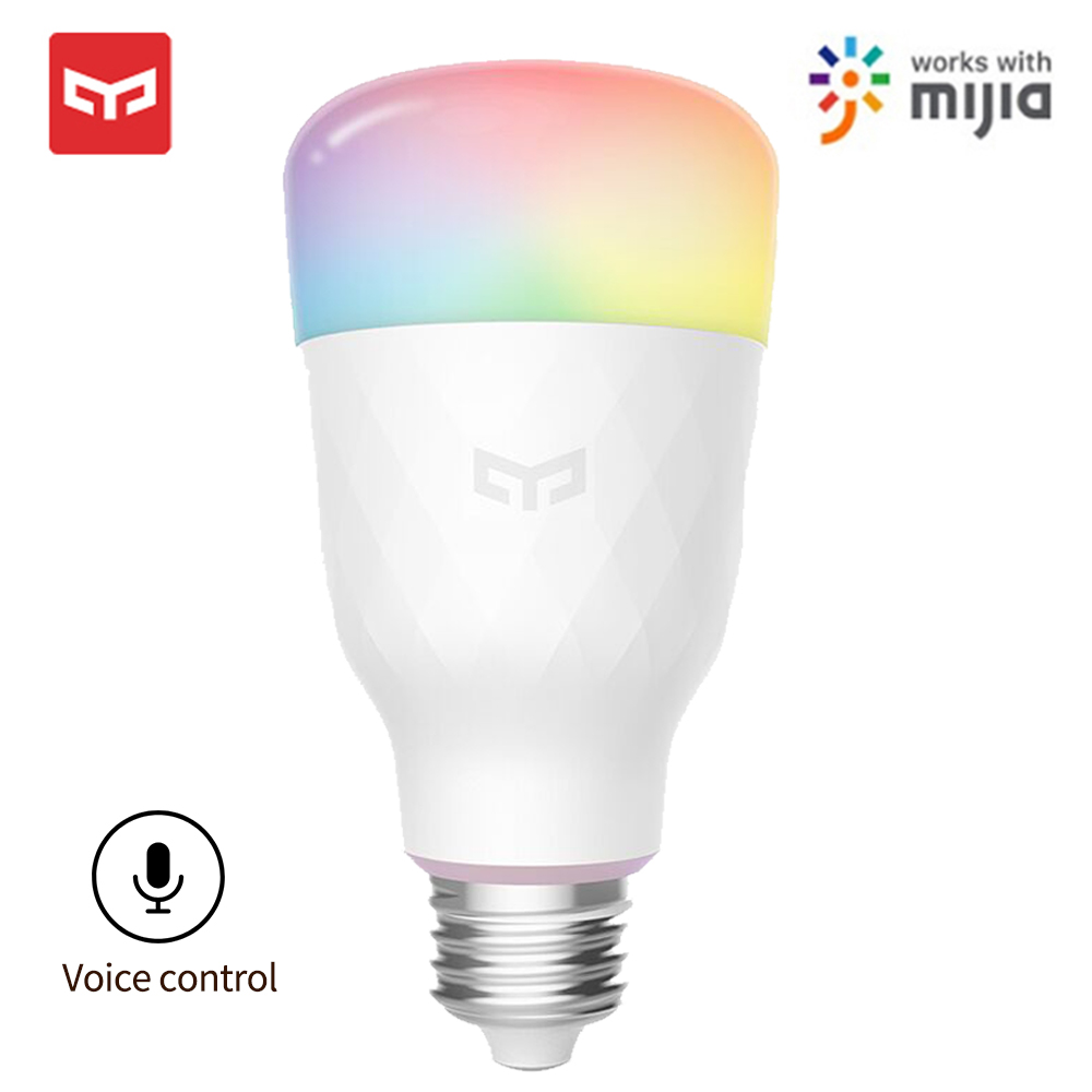 Yeelight Smart LED Bulb 1S Colorful Lamp 800 Lumens E27 Voice Control For Smart Lamp Mijia App Google Assistant