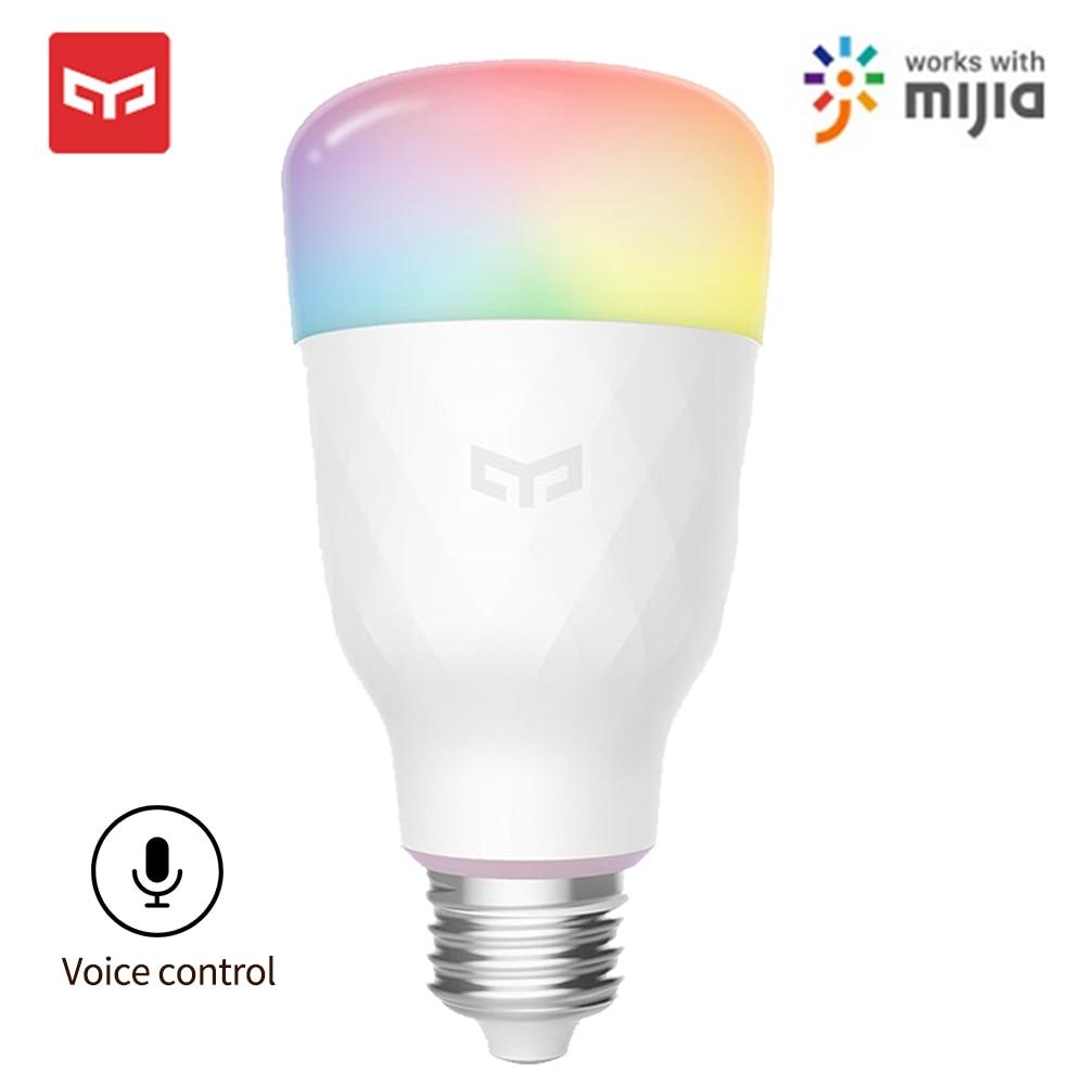 Yeelight Smart LED Bulb 1S Colorful Lamp 800 Lumens E27 Voice Control For Smart Lamp Mijia App Google Assistant