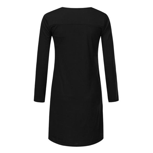 MaterniLong Sleeve Dresses for Pregnant Women | Winter + Autumn 4