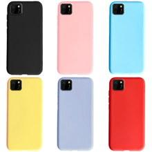 Honor 9 S krzemu skrzynka dla Huawei Y5P 2020 przypadku zwykły cukierki kolor miękka TPU telefon pokrywa dla Huawei Y5P DRA-LX9 Honor 9 S 9 S Fundas