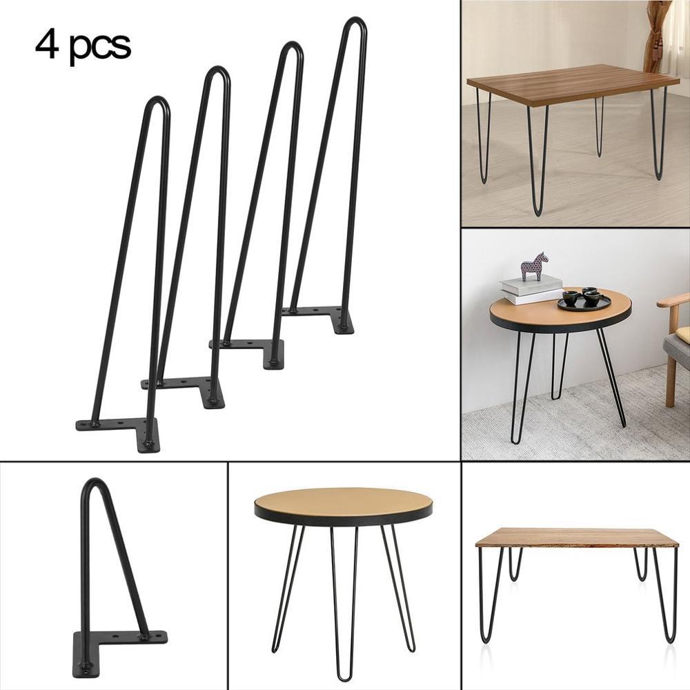 28 Pulgadas Set de 4pcs Piernas de Mesa de Muebles Pata de Hierro S/ólido en Forma de Horquilla para Escritorio Port/átil