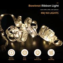 Świecący bajkowy łańcuch wodoodporny 40 wstęga LED łuki światła na choinkę tanie tanio HOSPORT CN (pochodzenie) CHRISTMAS Salon Suche baterii Brak WHITE YELLOW MULTI Other 20-50 głowy Żarówki led