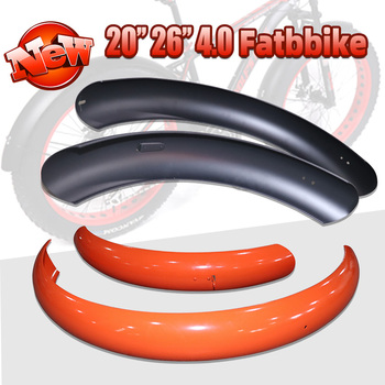 Bicycle Mudguards 26''x4.0 Mud Guards Fender set for fat tire EBike Snow bike Beach Cycle Accessories MTB Demolition Bike Fender