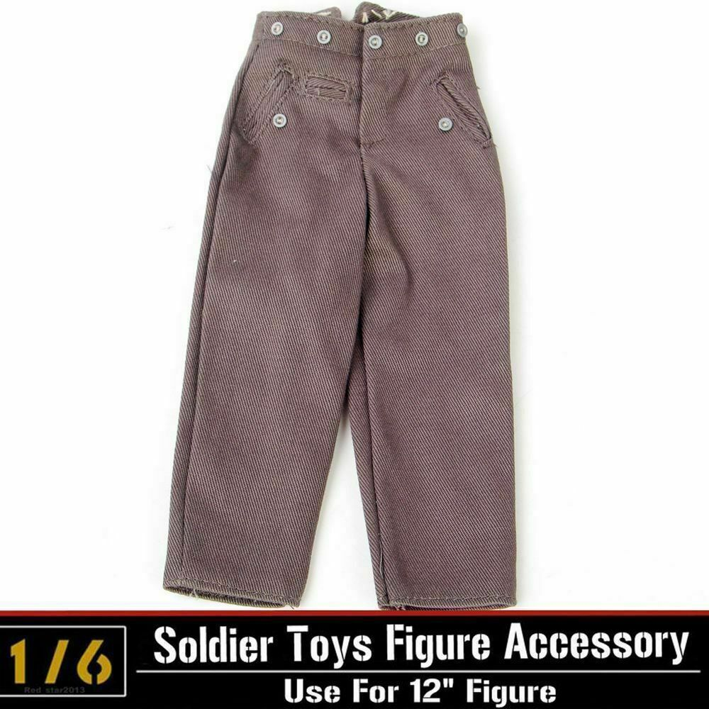 1/6 WWII German soldier army figures Trousers Clothing accessories model for 12