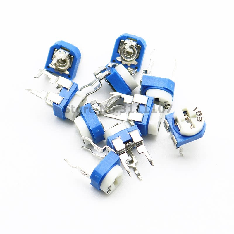 20PCS/LOT RM065 RM-065 100 200 500 1K 2K 5K 10K 20K 50K 100K 200K 500K 1M ohm Trimpot Trimmer Potentiometer variable resistor