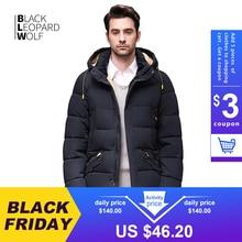 Blackleopardwolf – Doudoune à capuche pour homme, manteau masculin, chaud et confortable, veste mi longue, parka en feutre, collection hiver 2020, BL 833