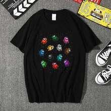 Женская футболка в стиле Харадзюку с принтом влюбленных среди