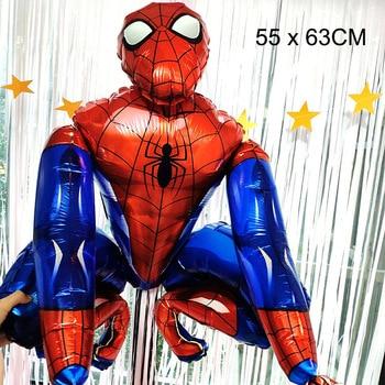 55 x 63CM 3D Spiderman Iron Man Hero Aluminum Foil Balloons Birthday Party Decoration Baby Shower Supplies Globos 11