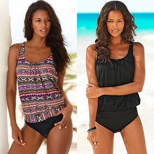 Swimwear 2020 Sexy Swimsuit Women Plus Size Tankini Sets Swim Vintage Beach Wear Bathing Suits Female Bandage Monokini Swim Suit