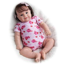 RSG Reborn Baby Doll 20 Inches Lifelike Newborn Smiley Baby Girl Silicone Vinyl Unpainted Unfinished Doll Parts DIY Kit