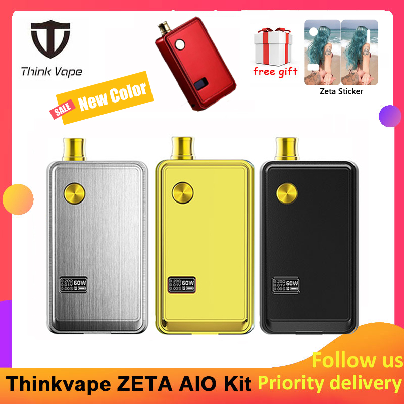 Think Vape ZETA AIO 60W Pod Kit Powered By Single 18650 Battery Box Mod 3ml Tank E-cigarette Big Smoke Atomizer
