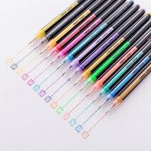 Pen Glitter School-Stationery Gel-Pen-Set Highlighter-Pen Art-Markers Doodling for Diarys