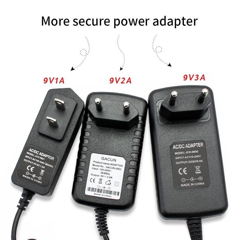AC DC Power Supply 220V TO 9V Volt 1A 2A 3A Adapter Universal Converter AC 220V TO DC 9V Transformer EU US Charger For LED Strip