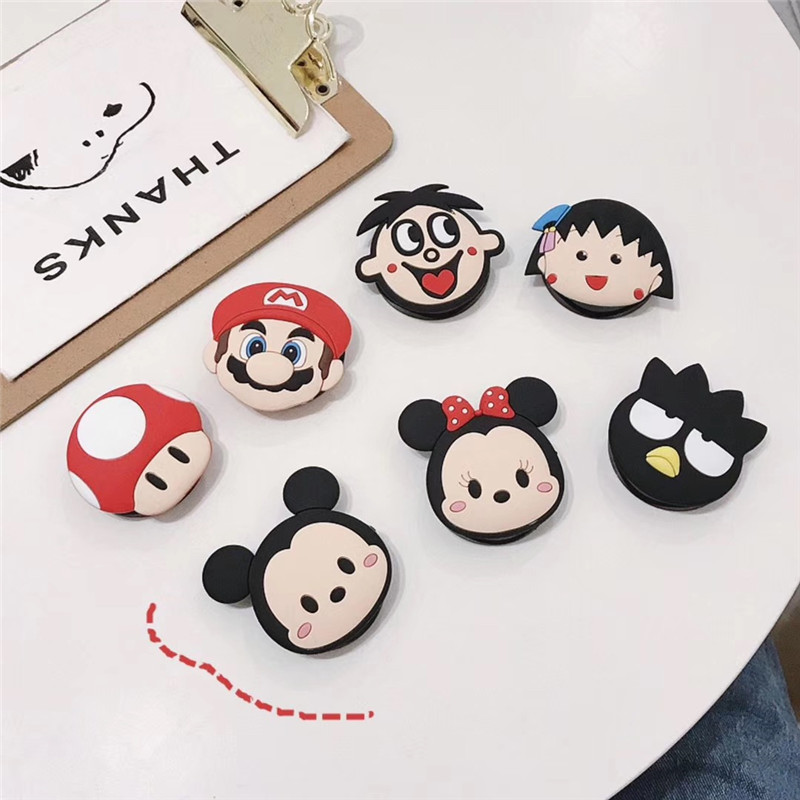 Cute Cartoon Folding Stand For Mobile Phone Holder For IPhone X 8 7 6 Plus For Samsung For Huawei Phone Case Fashion Kickstand