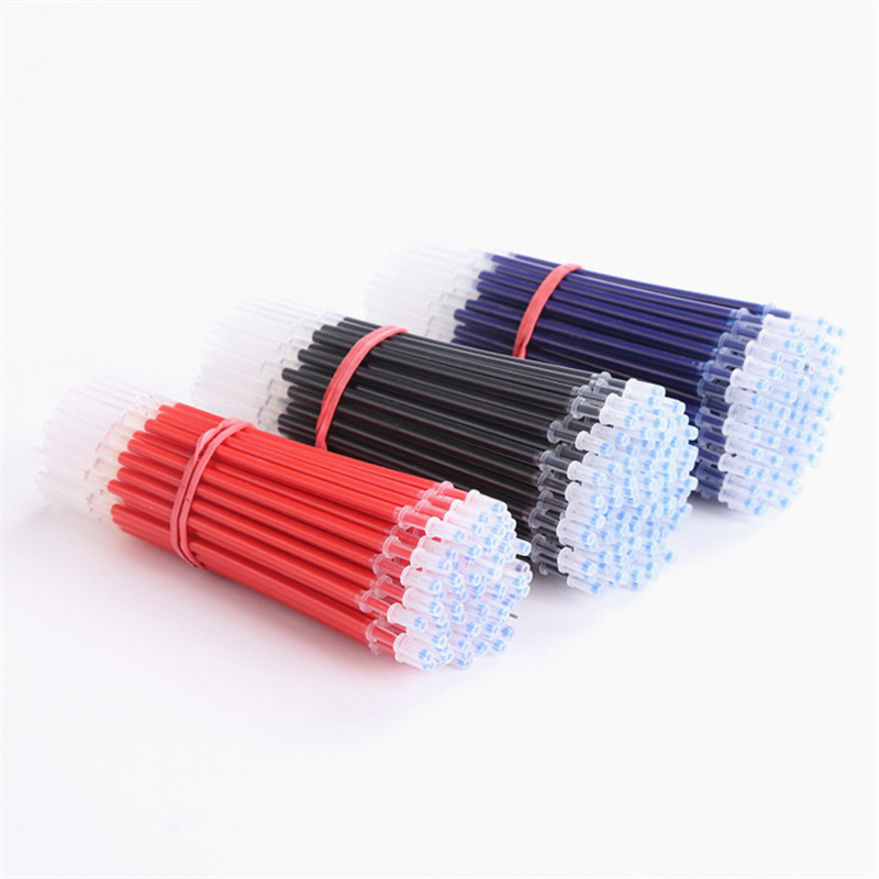 0.38mm 10pcs/bag Gel Pen Refill Office Signature Rods Red Blue Black Ink Refill Office School Stationery Writing Supplies 3