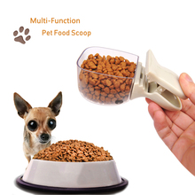 Pet Dog Cat Capacity Food Scoop Feed Measuring Cup Feeding Shovel Plastic Spoon Multifunction