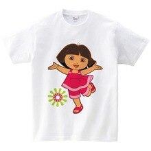 children Brand New T shirt Dora girls Sweet Lovely style t infant/baby cute cartoon tees Explorer girl summer tops