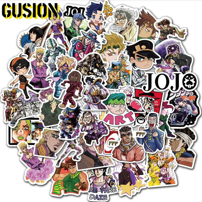 10/30/50pcs/Pack Anime Jojos Bizzare Adventure Stickers Guitar Luggage Laptop Bicycle Fridge Skateboard Graffiti Sticker Toys