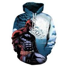 3D Hoodie Batman Dark Knight Print Tops Sweatshirt Jacket Unisex Mens and Womens Long Sleeve Hip Hop Street