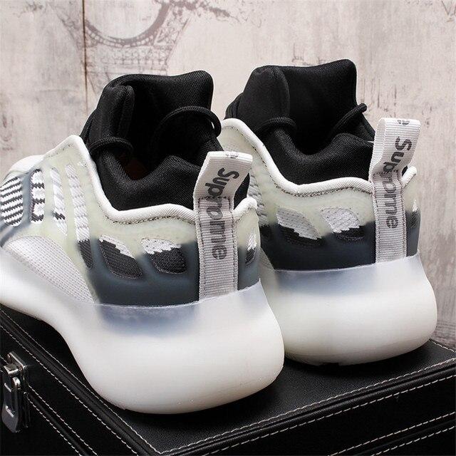 Verano de los hombres Zapatillas de deporte Hip Hop celebridad Web placa transpirables zapatos de Hombre Zapatos cada vez mayor altura Zapatillas Hombre 5