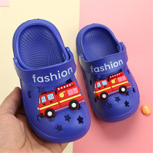 Cartoon Car Truck for Boys Girls Shoes 2020 Summer Flip Flops Baby Indoor Beach Swimming Children Slipper Sandals EVA Light(China)