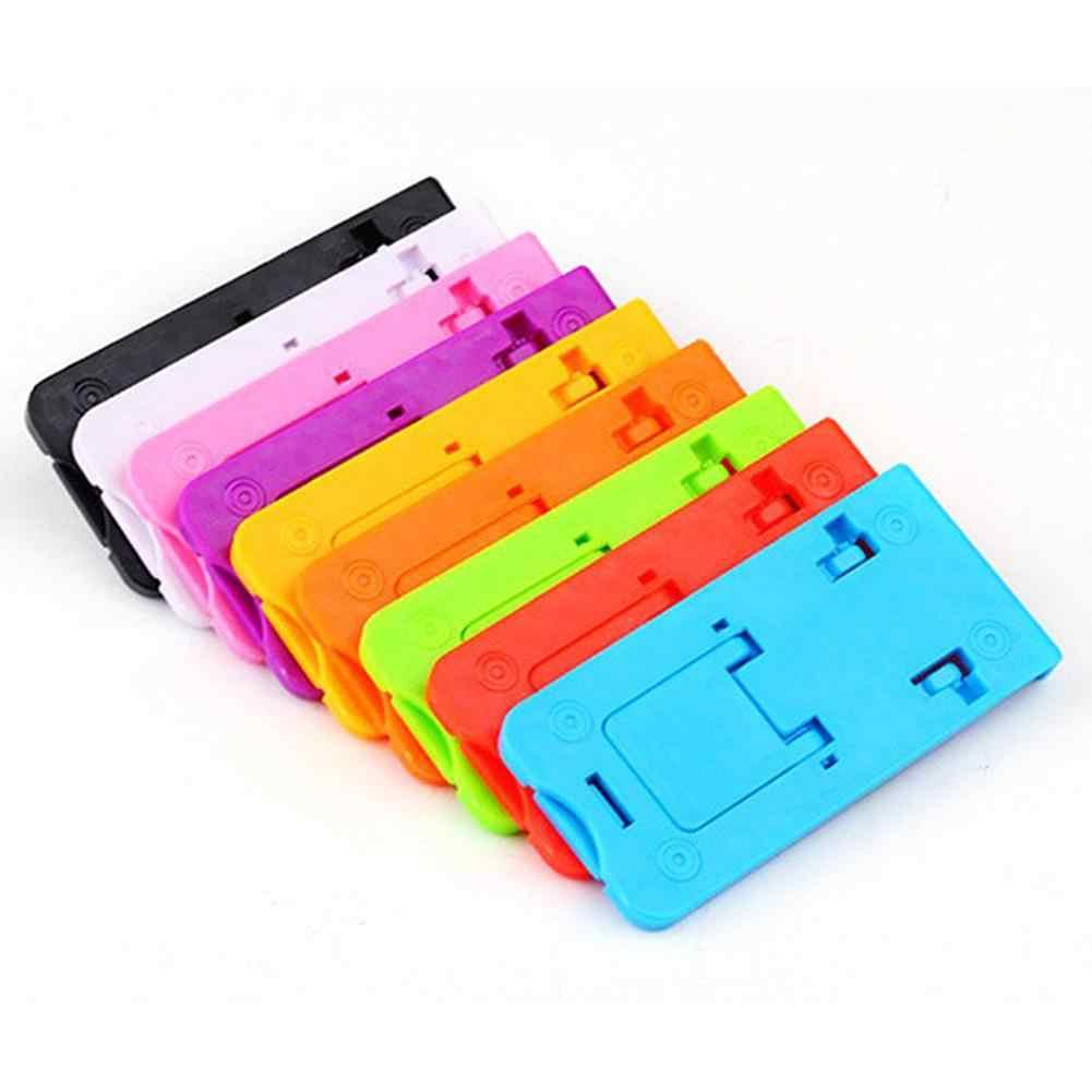 Mini soporte de teléfono móvil plegable soporte de plástico para teléfono móvil tableta PC accesorios de soporte