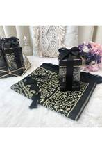 Çırağan Series Prayer Rug Prayer halısıTesbih Gift Set Black