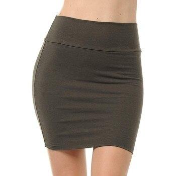 MIARHB Skirts Womens Plus Size High Waist Classic Simple Stretchy Tube Pencil Mini Sexy Skirt Faldas Mujer Moda 2020 Miniskirt 3