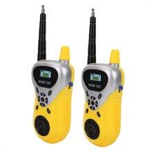 2pcs Mini Children Walkie Talkies Electronic Radio Interphone Kids Outdoor Toy Long Range Handheld Transceiver Kids Gift