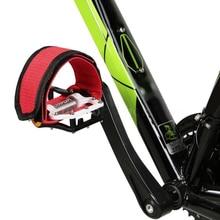 Наружная велосипедная педаль, фиксирующие петли для ног, противоскользящие велосипедные педали, фиксированные полосы, безопасные Аксессуары для велосипеда, 45,5x5,3 см, педали с фиксированной передачей
