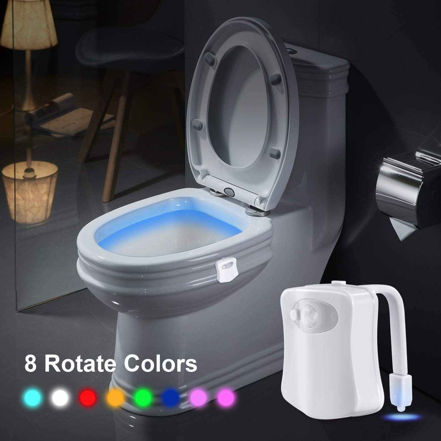 Leadly Toilet Night Light Smart Motion Sensor Led Night Lamp Battery Operated Wc Bedside Lamp Room Hallway Pathway Toilet Light Led Night Lights Aliexpress