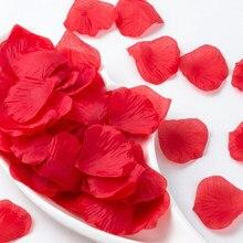 100/500/1000/2000 pces casamento artificial seda rosa pétalas nupcial chuveiro cena decoração festa simulação mão espalhando pétalas