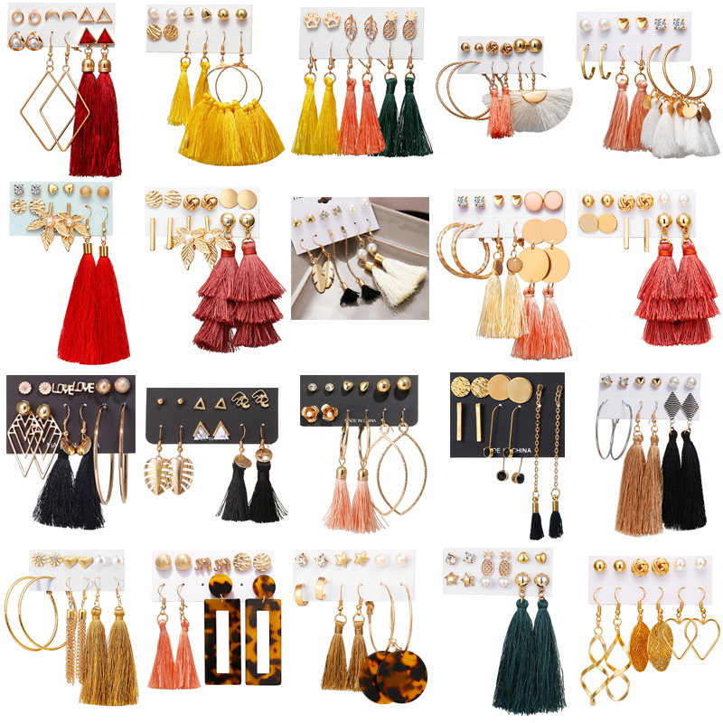 Купить винтажные акриловые серьги с кисточками гвоздики для девушек