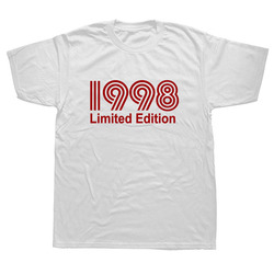 1998 Limited Edition Funny Graphic T-Shirt Mens Summer Style Fashion Short Sleeves Oversized Streetwear T Shirts