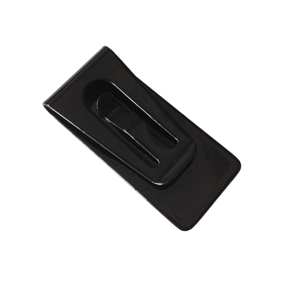 Stainless Steel Black Slim Pocket Cash Money Clip Holder Case PR Sale