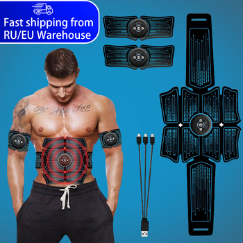 EMS Abdominal Muscle Stimulator Trainer USB Connect Abs Fitness Equipment Training Gear Estimulador Muscular Slimming Massager