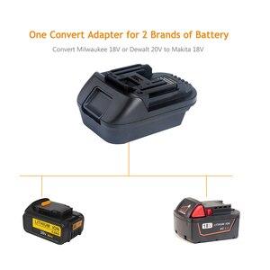 Image 5 - DM18M Battery Converter Adapter for 18V Lithium ion Power Tools Convert Milwaukee 18V or Dewalt 20V Lithium ion Battery