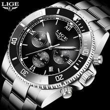 Часы наручные lige Мужские автоматические брендовые роскошные