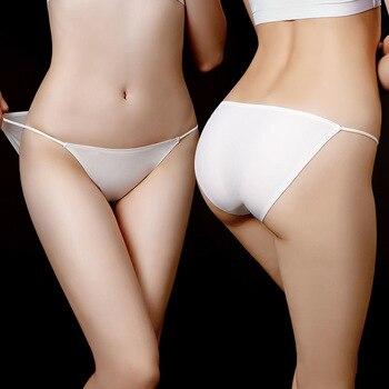 2PCS Fashion cotton briefs sexy panties for women Seamless  Panty Bikini Thongs female Transparent Lingerie Low-Rise underwear 2pcs cotton panties girls underwear low rise young ladies lingerie color mix size m l xl
